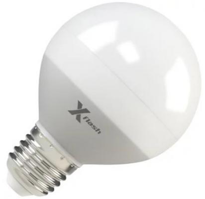 Лампа X-FLASH XF-E27-G70-P-8W-4000K-220V Шар. Е27. 4000К. 670лм.X6 x flash светодиодная лампа xf e27 r80 p 10w 4000k 220v x flash