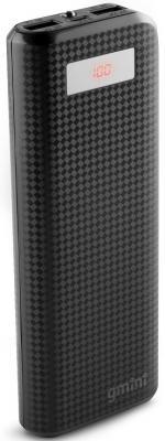 Внешний аккумулятор Power Bank 15600 мАч Gmini GM-PB156TC черный 2600mah power bank usb блок батарей 2 0 порты usb литий полимерный аккумулятор внешний аккумулятор для смартфонов светло зеленый