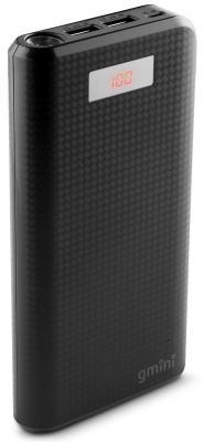 Внешний аккумулятор Power Bank 20000 мАч Gmini GM-PB-200TC черный внешний аккумулятор molecula pb 20 01 20800 мач черный алюминий