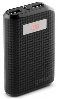 Внешний аккумулятор Power Bank 7800 мАч Gmini GM-PB-80TC черный внешний аккумулятор molecula pb 20 01 20800 мач черный алюминий