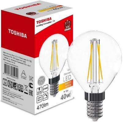 Лампа светодиодная груша Toshiba 00101760405A E14 5W 2700K