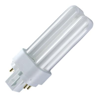 Лампа OSRAM DULUX D/E 18W/840 G24q-2 компактная 4050300017617 линейная люминесцентная лампа philips tld 18w 865 840 830 t8