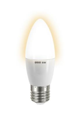 Лампа GAUSS LED Elementary Candle 6W E27 2700K арт.LD33216 gauss elementary globe e27 6w 230v желтый свет