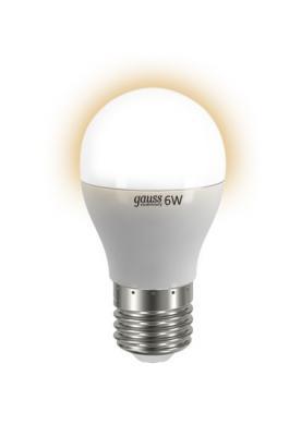 Лампа GAUSS LED Elementary Globe 6W E27 2700K Арт.LD53216 gauss лампа gauss led elementary globe 6w e27 2700k 3 40 3 лампы в упаковке