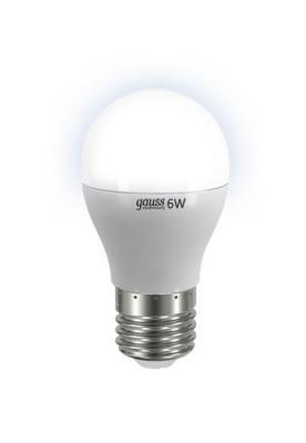 Лампа GAUSS LED Elementary Globe 6W E27 4100K арт. 53226 лампочка gauss elementary gu10 mr16 9w 660lm 4100k 13629