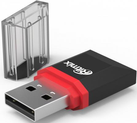 Картридер внешний Ritmix CR-2010 USB 2.0/Micro SD черный часы наручные женские mikhail moskvin каприз цвет черный 600 11 4