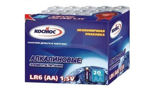 Батарейка КОСМОС KOCLR620BOX LR LR6 (уп.20шт.) батарейка космос koslr6rockets4bl
