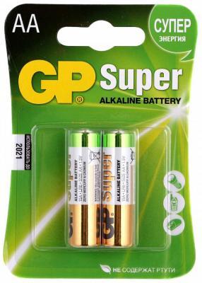Батарейка GP 15A 1.5В AA LR6 (толстая) (цена за шт, в блистере 4шт) aa батарейка gp super alkaline 15a lr6 2 шт