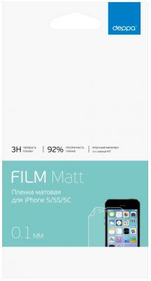 Защитная плёнка матовая Deppa 61007 для iPhone 5 iPhone 5S iPhone 5C iPhone 5SE автомобиль iphone 5s iphone 5 iphone 5c iphone 4 4s универсальный iphone 3g 3gs мобильный держатель подставки для мобильного телефона 360 °