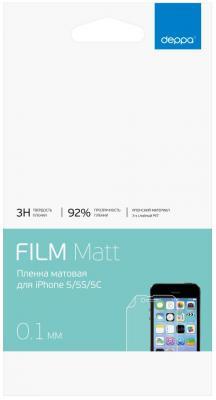Защитная плёнка матовая Deppa 61007 для iPhone 5 iPhone 5S iPhone 5C iPhone 5SE shining rhinestone protective pu leather plastic case for iphone 5 5s 5c golden