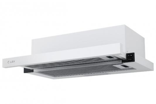 Вытяжка встраиваемая LEX HUBBLE 600 WHITE 570м3/час LED лампы lex hubble 2m 600