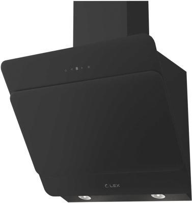 Воздухоочиститель LEX Glass 600 Black 680 м3/ч, дисплей, 38 Дб, подсветка, диаметр 150 мм