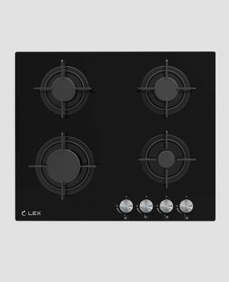 Панель варочная LEX GVG 641 BL  газовая 1000-3000Вт 4конфорки