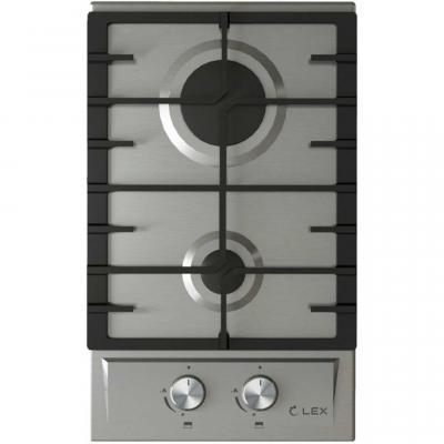 Встраиваемая газовая варочная панель LEX GVS 321 Inox  4000Вт 2 комфорки нерж.сталь