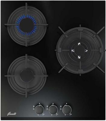 Варочная панель газовая Fornelli PGA 45 FIERO BL черный индукционная варочная поверхность fornelli pi 45 inizio bl
