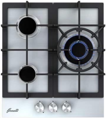 Варочная панель газовая Fornelli PGA 45 TORDO IX серебристый варочная панель газовая fornelli pga 45 fiero wh белый