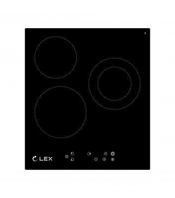 Встраиваемая  варочная панель LEX EVH 431 BL  1х1200Вт 1х1800Вт 1х2000Вт