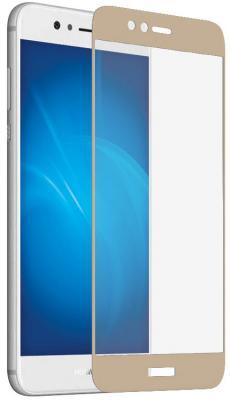 Закаленное стекло DF hwColor-19 с цветной рамкой для Huawei Nova 2 Plus золотистый