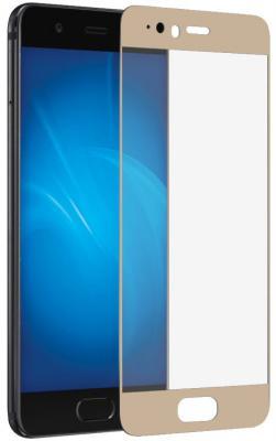 Закаленное стекло DF hwColor-10 с цветной рамкой для Huawei P10 Plus золотистый