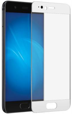 Закаленное стекло DF hwColor-10 с цветной рамкой для Huawei P10 Plus белый