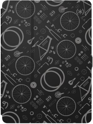 Чехол-книжка Speck Balance Folio Print - BikeParts Black/Ash Grey для iPad Pro 9.7 чёрный 91503-6847