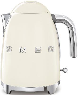 Чайник Smeg Стиль 50-х годов 2400 Вт кремовый 1.7 л нержавеющая сталь KLF03CREU чайник smeg klf02bleu