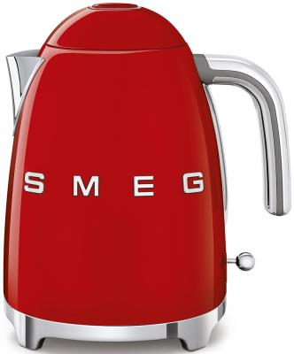 Чайник Smeg Стиль 50-х годов 2400 Вт красный 1.7 л нержавеющая сталь KLF03RDEU smeg klf01xxcn pb электрическтй чайник синий
