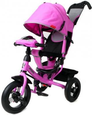 Купить Велосипед Moby Kids Comfort AIR Car1 300/250 мм розовый 641086, Детские трехколесные велосипеды
