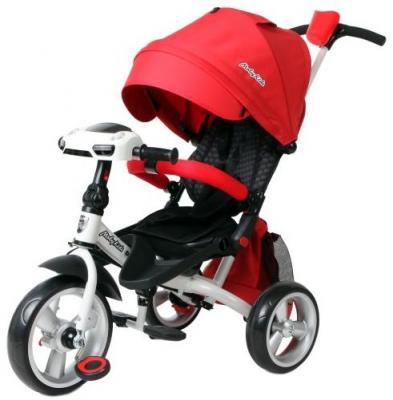 Велосипед Moby Kids Leader 360° EVA Car 300/250 мм красный 641079 велосипед moby kids start eva 250 200 мм розовый