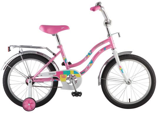 Велосипед Novatrack TETRIS 16 16 розовый 161TETRIS.PN8 велосипед novatrack 16 зебра бордово белый 165 zebra clr6