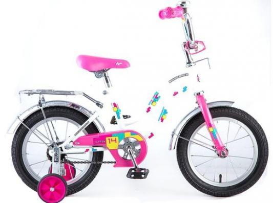 Велосипед Novatrack TETRIS 14 14 белый 141TETRIS.WT8 велосипед novatrack tetris 16 16 розовый 161tetris pn8