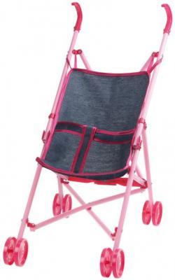 Коляска для кукол 1Toy Красотка-Джинс Т10380 1toy 1toy карета с лошадью для кукол 1 местн т53235