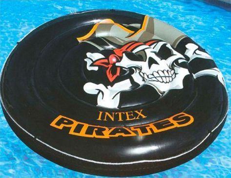 Купить Надувная игрушка Intex ватрушка, черный, пластик, Детские круги для плавания