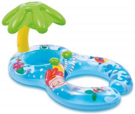 Купить Н.круг для плавания 117х75см 1-2лет, Intex, синий, пластик, Детские круги для плавания