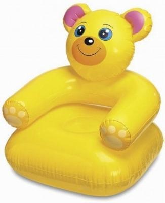 Надувное кресло Intex Медвежонок кресло надувное intex собака цвет белый 65 х 64 х 74 см