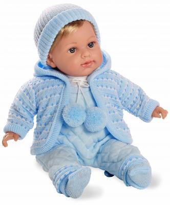 Кукла 1toy Elegance в голубом комбинезончике 42 см со звуком Т11102 кукла 1toy красотка маленькая белоснежка звук 40 см со звуком