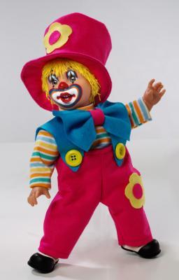 Купить Arias ELEGANCE Клоун 38 см, пакет (винил, тесктильные материалы), 1toy, винил, текстиль, Классические куклы и пупсы