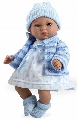 Купить Arias ELEGANCE мягк кукла 28 см., со звук. эфф. Гуление (3хLR44/AG13), в одежде, голуб. цвет., в кор. 20*12*35 см., пластик, текстиль, Классические куклы и пупсы