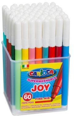 Набор фломастеров CARIOCA Joy 60 шт carioca набор смываемых восковых карандашей baby 8 цветов