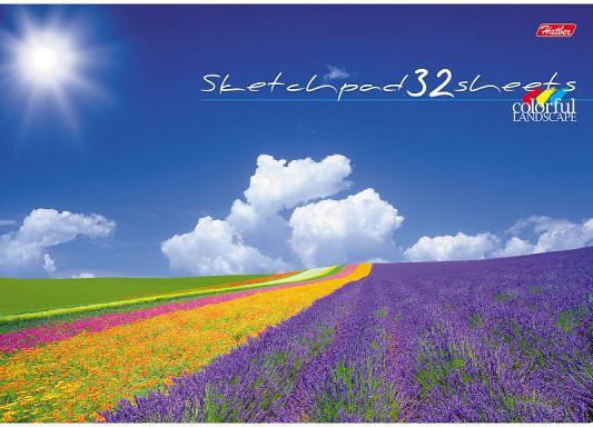 Альбом для рисования Хатбер Цветущие долины A4 32 листа 037701 альбом для рисования хатбер величественная природа a4 32 листа 028079 32а4в вп в ассортименте