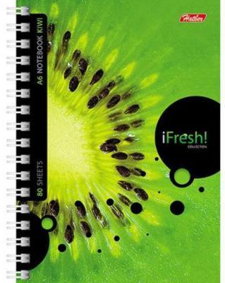 Блокнот IFRESH, на гребне, кл., ф. А6, 80л. 030956 тетрадь metallic бордо на гребне кл пластиковая обложка ф а5 80 л 040530