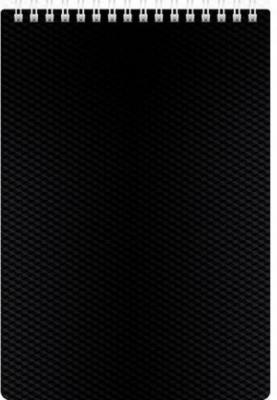 Блокнот DIAMOND, на гребне, пластик, кл., ф. А5, 80л. черный 036812