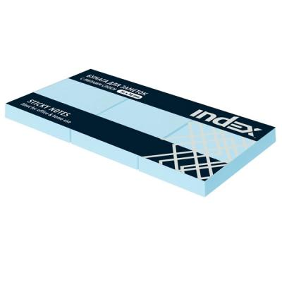 Бумага для заметок с липким слоем, разм. 51х38 мм, светло-голубая, 100 л., 1шт.|1