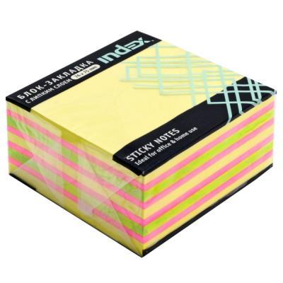 Бумага для заметок с липким слоем, разм. 76х75 мм, желтая пастельная РАДУГА, 400 л наждачная бумага желтая p60 115 мм 50 м