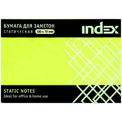 Блок бумажный Index 100 листов 70х100 мм желтый 4680291031325
