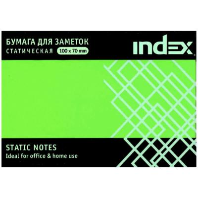 Блок бумажный Index 100 листов 70х100 мм зеленый 4680291031332