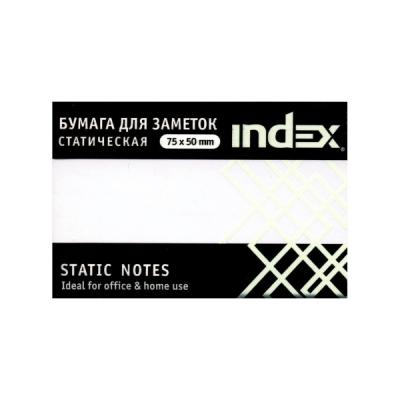 Блок бумажный Index 100 листов 50х75 мм белый 4680291031318