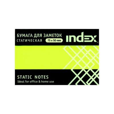 Блок бумажный Index 100 листов 50х75 мм желтый 4680291031295 блок самоклеящийся бумажный stickn 21072 76x76мм 400лист 70г м2 пастель желтый