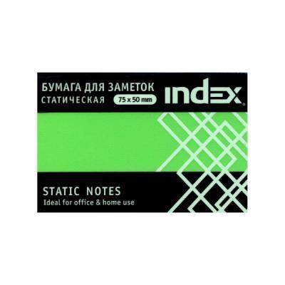 Блок бумажный Index 100 листов 50х75 мм зеленый 4680291031301