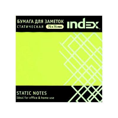 Блок бумажный Index 100 листов 75х75 мм желтый 4680291031271 блок самоклеящийся бумажный stickn 21072 76x76мм 400лист 70г м2 пастель желтый
